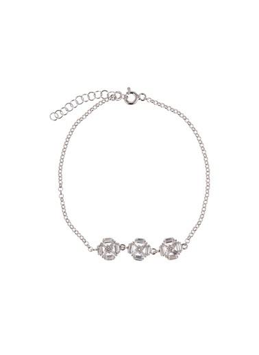 Coquet Accessories Rodyum Baget Karışık Gümüş Bileklik Gümüş